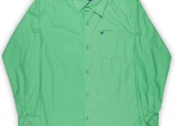 612 League Boys Solid Casual Green Shirt