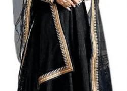 Active Anarkali Gown  (Black)