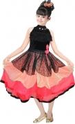 AD & AV Girls Midi/Knee Length Party Dress  (Black, Sleeveless)