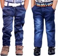 AD & AV Regular Boys Multicolor Jeans  (Pack of 2)