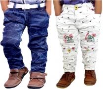 AD & AV Regular Boys Blue Jeans  (Pack of 2)