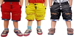 AD & AV Short For Boys Casual Embriodered Cotton Viscose Blend  (Multicolor, Pack of 3)