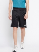 Adidas Men Black M2M 3S Solid Sports Shorts