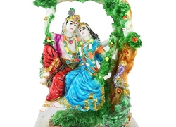 Aica Radha Krishna idol hindu God showpiece figurine -5