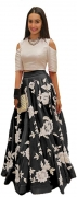 Aika Women's Top and Skirt Set