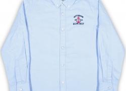 Allen Solly Junior Girls Embroidered Cotton T Shirt  (Dark Blue, Pack of 1)