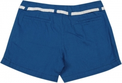 Allen Solly Junior Short For Girls Casual Self Design Cotton  (Blue, Pack of 1)