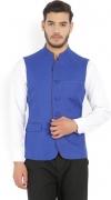Allen Solly Solid Single Breasted Casual Men's Blazer  (Blue)