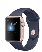 Apple Watch Series 2 – 42 mm Rose Gold Case with Midnight Blue Sports Band