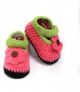 Babyoodles Booties  (Toe to Heel Length – 10 cm hot pink)