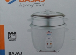 Bajaj RCX 7 Electric Rice Cooker with Steaming Feature(1.8 L, White)