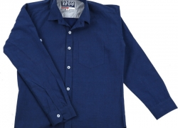 BASE 41 Boys Solid Casual Blue Shirt