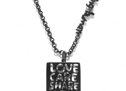 Being Human Jewellery Unisex Black Iron-Plated Pendant with Chain