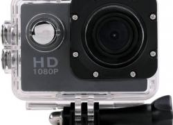 Wonder World ® Waterproof Helmet HD 1080p Cam Holder Sports & Action Camera  (Black)