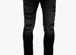 Locomotive Black Washed Slim Fit Jeans