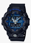 CasioPOPULAR Black/Blue Resin Analog & Digital Watch