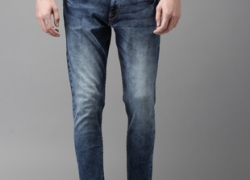 Moda Rapido Blue Slim Fit Mid-Rise Clean Look Stretchable Cropped Jeans