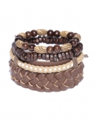 Blueberry Men Set of 4 Brown Bracelets