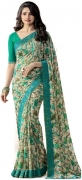 Glory Sarees Floral Print, Printed Daily Wear Georgette Saree  (Multicolor