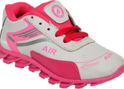 BUNNIES Girls Lace Running Shoes  (Pink)