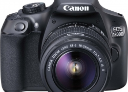 Canon EOS 1300D DSLR Camera Body with Single Lens: EF-S 18-55 IS II (16 GB SD Card)  (Black)