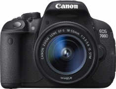 Canon EOS 700D DSLR Camera Body with Dual Lens: EF S18 – 55 mm IS II and EF S55 – 250 mm IS II (8 GB SD Card + Camera Bag)  (Black)