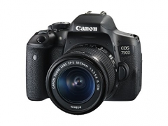 Canon EOS 750D Body with Single Lens: 18-55mm (16 GB SD Card + Camera Bag) DSLR Camera  (Black)