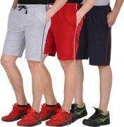 Checkersbay Short For Boys Casual Solid Cotton  (Multicolor, Pack of 3)