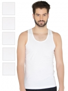 Chromozome Men Pack of 6 Innerwear Vest IT05