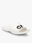 Crocs Classic Graphic White Flip Flops