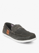 Woodland Dark Grey Loafers for Men