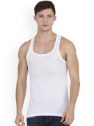 D&D Men White Cotton Vest
