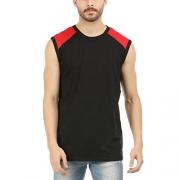 DESIGN CLASSIC Solid Men Round Neck Black T-Shirt