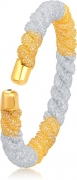 Divastri Alloy 18K Yellow Gold Kada