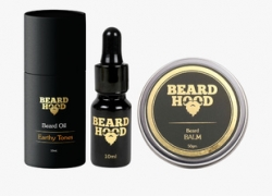 BEARDHOOD Earthy Tones Beard Oil & Natural Beard Balm