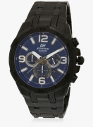 Casio Edifice Efr-538Bk-2Avudf (Ex232) Black/Blue Analog Watch