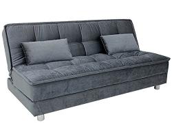 Fab Home Decor Gaiety Three Seater Sofa cum Bed (Grey)