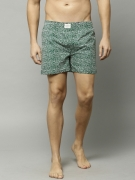FCUK Green Printed Boxers FBS01