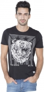 Flying Machine Boys Animal Print Cotton T Shirt  (White, Pack of 1)
