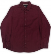 Flying Machine Boys Solid Casual Maroon Shirt