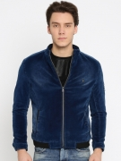 Fort Collins Men Blue Solid Bomber