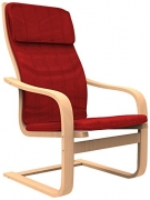 Forzza Rosa Bentwood Chair (Matt Finish, Red)