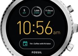 Fossil Q Wander Silver Smartwatch  (Silver Strap Regular)