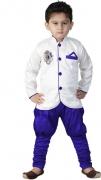 FTC Bazar Boys Kurta, Pyjama & Dupatta Set  (White Pack of 2)