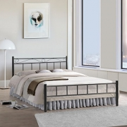 FurnitureKraft London Metal 4Ft Double Bed