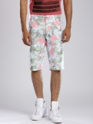 GAS Green & Pink Noley Straight Fit Shorts