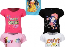 Gkidz Girls Casual Cotton Top  (Multicolor, Pack of 5)