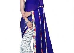 Glory Sarees Printed Daily Wear Georgette Saree  (Multicolor)