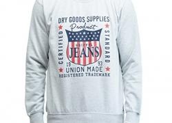 Griffel Full Sleeve Self Design Men's Sweatshirt