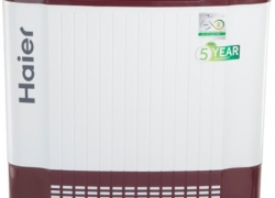 Haier 7.8 kg Semi Automatic Top Load Washing Machine White, Red  (HTW80-185V)